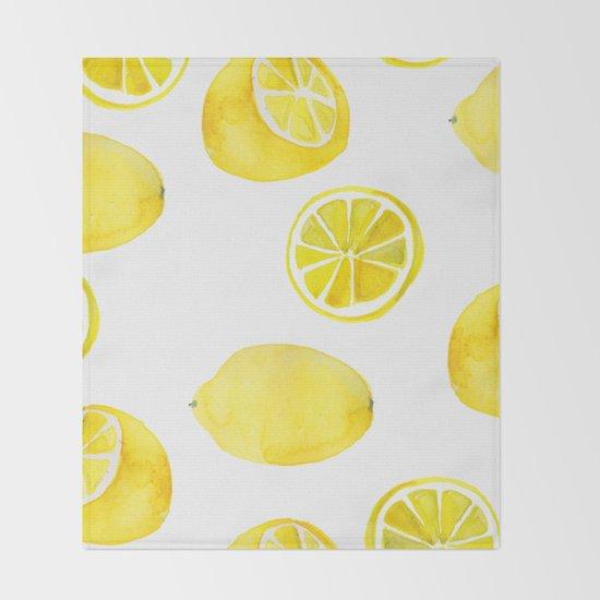 Lemon -ade Throw Blanket