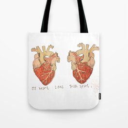 My Heart Likes Your Heart Tote Bag