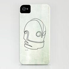 One line Iron Giant Slim Case iPhone (4, 4s)