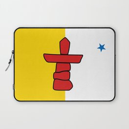 Flag of Nunavut - High quality authentic version Laptop Sleeve