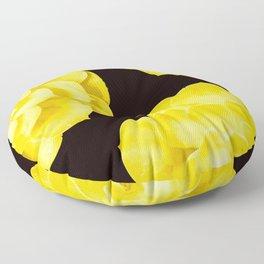 Large Yellow Succulent On Black Background #decor #society6 #buyart Floor Pillow