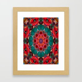Kaleidoscope, blooming shapes Framed Art Print