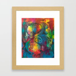 Expression of Silence Framed Art Print