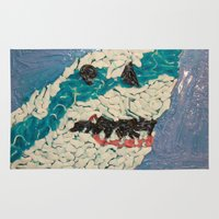 jaws Area & Throw Rugs featuring Jaws by Emily Condie