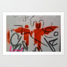 Super Heroes Art Print