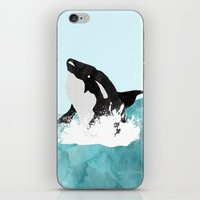 killer whale iPhone & iPod Skins featuring The Killer Whale  by Jasmine Smith