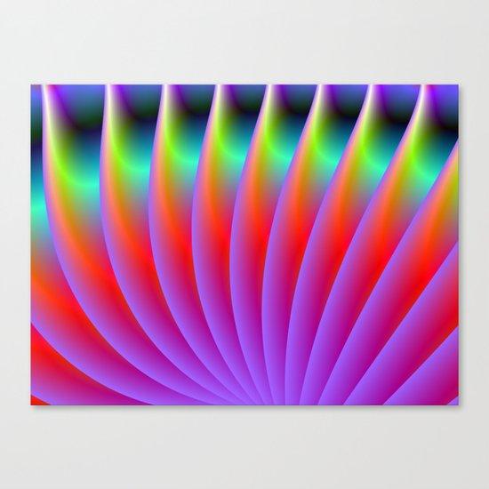 Neon Fan Canvas Print