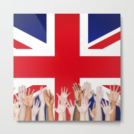BRITISH FLAG WITH PEOPLE OF ALL COLOR Metal Print
