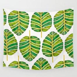 Elephant Ear Alocasia – Green Palette Wall Tapestry