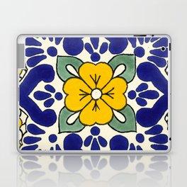 talavera mexican tile in yellow Laptop & iPad Skin