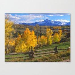 Aspen, Ranch - San Miguel Mountains near Telluride, Colorado Canvas Print