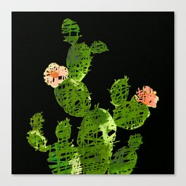 weird cactus black version Canvas Print