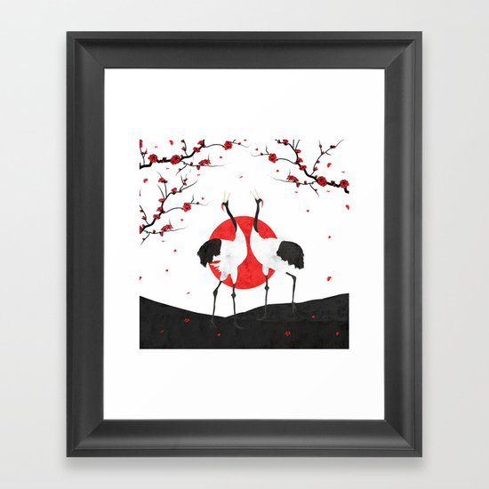 Love's Dance - Spring Version Framed Art Print