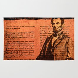 Abraham Lincoln and the Gettysburg Address Rug