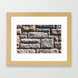 Stone Cladding Framed Art Print