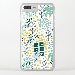 Landscape in Teal Clear iPhone Case