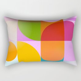 geomtry of joy Rectangular Pillow