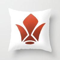 gundam Throw Pillows featuring iron blooded gundam  by Joshwa