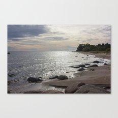 Seascape with stones Canvas Print