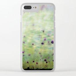 Flowerbud skies Clear iPhone Case