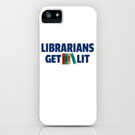 Librarians Get Lit with Classic Books iPhone Case