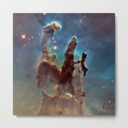 Pillars of Creation- NASA Hubble Telescope Image Metal Print