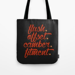 flush offset camber fitment v1 HQvector Tote Bag