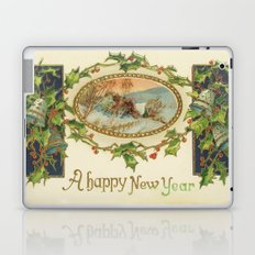 A Happy Vintage New Year Laptop & iPad Skin