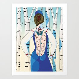 Russian beauty Art Print
