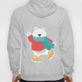 Polar Bear Go Skiing for Merry Christmas Hoody