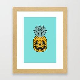 Pineapple Lantern Framed Art Print