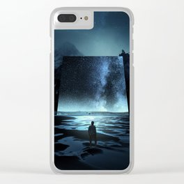 Cosmic Mirror Clear iPhone Case