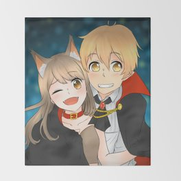 Reina and Yosuke [Halloween] Throw Blanket