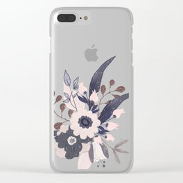 Winifred Flowers Clear iPhone Case