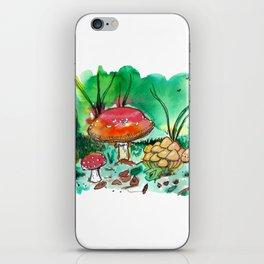 Toadstool Mushroom Fairy Land iPhone Skin