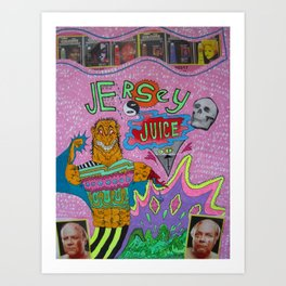 Jersey Juiceheadz Art Print