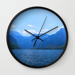 Koenigssee Lake with Alpes Mountains 2 on #Society6 Wall Clock