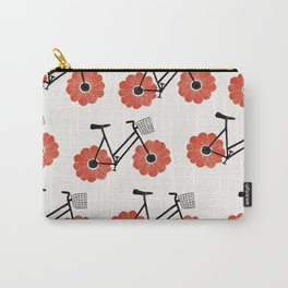 Flower Powered Bike Red Anemone Carry-All Pouch