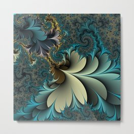Birds of a Feather Fractal Metal Print