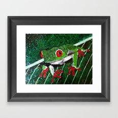 Costa Rica Tree Frog Framed Art Print