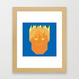 Hvman Torch Framed Art Print