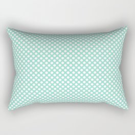 Beach Glass and White Polka Dots Rectangular Pillow