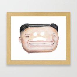 Kim Jong Un makes me kinda sad Framed Art Print
