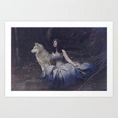 Blue Fairy Tale Art Print