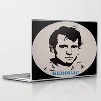 kerouac Laptop & iPad Skins featuring Jack Kerouac Record Painting by All Surfaces Design