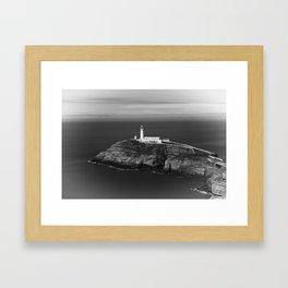 South Stack Lighthouse - Mono Framed Art Print
