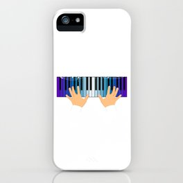 "Great Gift Shirt For Musicians ""Piano"" T-shirt Design Grand Piano Musician Music Key Chords Bass iPhone Case"