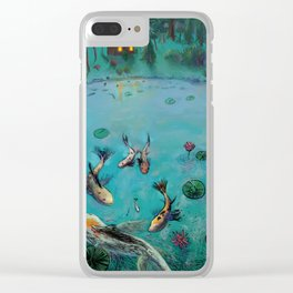 Koi Fish Painting Clear iPhone Case