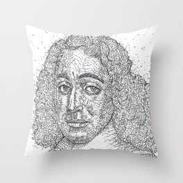 BARUCH SPINOZA ink portrait Throw Pillow