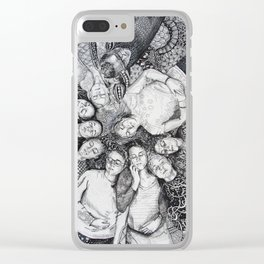 Closed Eyes-ISF 10 Clear iPhone Case